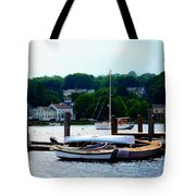 Rowboats Piled At Dock Tote Bag