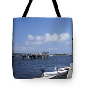 Rowboats Tied To Dock Tote Bag