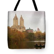 Rowers In Central Park Tote Bag