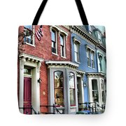 Rowhouses Of Eastern Market Xiv Tote Bag