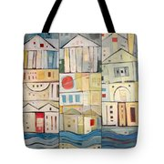 Rowhouses Triptych Tote Bag