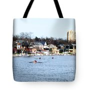 Rowing At Boathouse Row Tote Bag