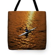 Rowing Into The Sunset Tote Bag