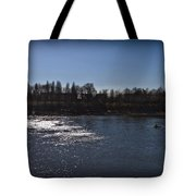 Rowing On Thames In Autumn Tote Bag