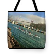 Rowing To The Golden Gate Bridge Tote Bag
