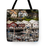 Rows Of Houses And Sails Tote Bag