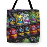 Rows Of Skulls Tote Bag