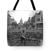 Roy And Minnie Mouse Black And White Magic Kingdom Walt Disney World Tote Bag