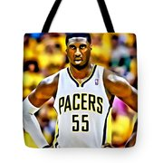 Roy Hibbert Tote Bag by Florian Rodarte
