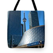 Roy Thomson Hall And Cn Tower Tote Bag