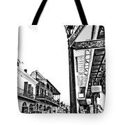 Royal Afternoon Monochrome Tote Bag