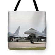 Royal Air Force Typhoon Aircraft  Tote Bag