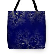 Royal Blue Frost Fractal Tote Bag