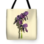 Royal Purple Iris Still Life Tote Bag