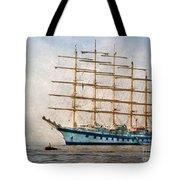 Royal Clipper On Amalfi Coast Tote Bag