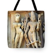 Royal Couple In Stone Tote Bag
