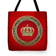 Royal Crown In Gold On Red  Tote Bag