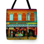 Royal Oaks British Pub Hillarys And Pc Perfect Glebe Central Paintings Of Ottawa Scenes C Spandau Tote Bag