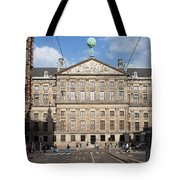 Royal Palace From Raadhuisstraat Street In Amsterdam Tote Bag