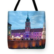 Royal Palace In The Old Town Of Warsaw Tote Bag