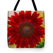Royal Red Sunflower Tote Bag