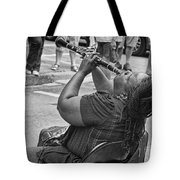 Royal Street Clarinet Player New Orleans Tote Bag