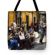 Royal Street Jazz Musicians Tote Bag