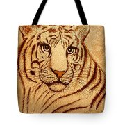 Royal Tiger Coffee Painting Tote Bag
