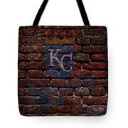 Royals Baseball Graffiti On Brick  Tote Bag by Movie Poster Prints