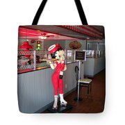 Rt 66 Dwight Il Betty Boop Tote Bag