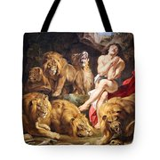 Rubens' Daniel In The Lions' Den Tote Bag