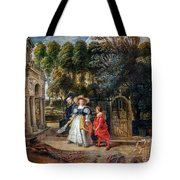 Rubens In His Garden With Helena Fourment Tote Bag
