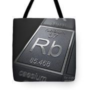 Rubidium Chemical Element Tote Bag
