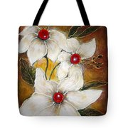 Rubies Tote Bag by Elena  Constantinescu