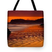Ruby Beach Afterglow Tote Bag