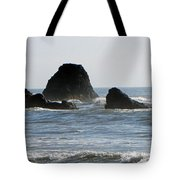 Ruby Beach Sea Stack Tote Bag