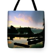Ruby Beach Sunset Olympic National Park Tote Bag