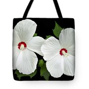 Ruby Dot Hibiscus Tote Bag