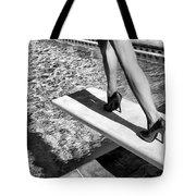 Ruby Heels Bw Palm Springs Tote Bag