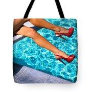 Ruby Heels Not In Kansas Palm Springs Tote Bag