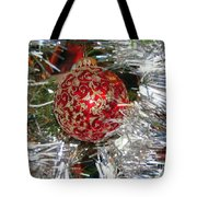 Ruby Red Ornament Tote Bag