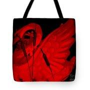 Ruby Red Swan Tote Bag