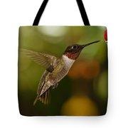 Ruby-throat Hummingbird Tote Bag