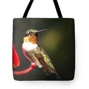 Ruby Throated Hummingbird 2 Tote Bag