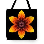 Rudbeckia I Flower Mandala Tote Bag