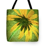 Rudbeckia On Cement Tote Bag
