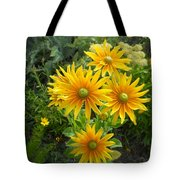 Rudbeckias With Green Centers Tote Bag