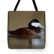 Ruddy Duck On Still Pond Tote Bag