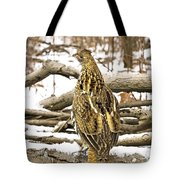 Ruffed Grouse Rear View Tote Bag