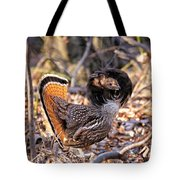 Ruffed Grouse Ruffed Up Tote Bag